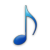 blue-eighth note